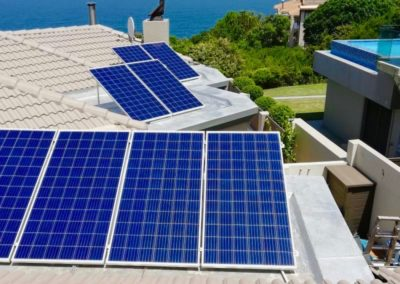Solar panel installation at Mossel Bay Golf Estate